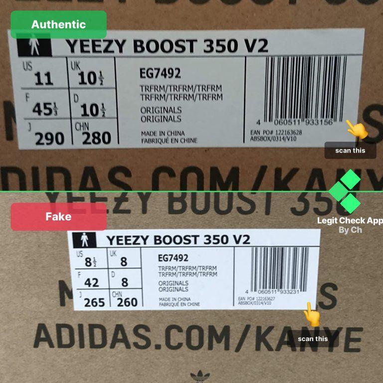 fake yeezy true form