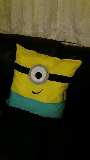 Tobias minion cushion. He loves it x