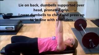 Dumbell Bench Press - annamarshnutrition - YouTube