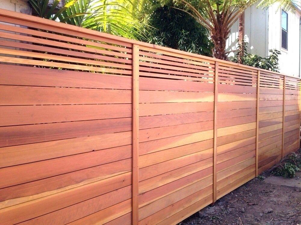 Horizontal Slatted Fence Panels Uk Lattice Redwood Custom