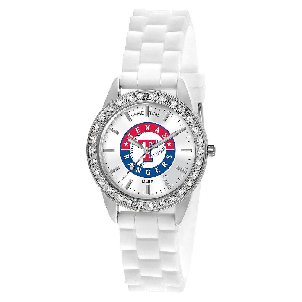 Women S Game Time Frost Series Watch Texas Rangers White Fashion Watches Mlb Women Wrist Watch