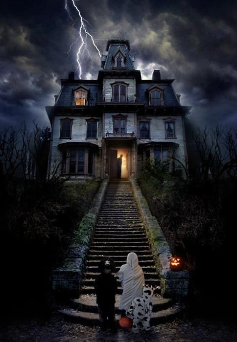 im not sure i would trick or treat at this haunted house would you halloween