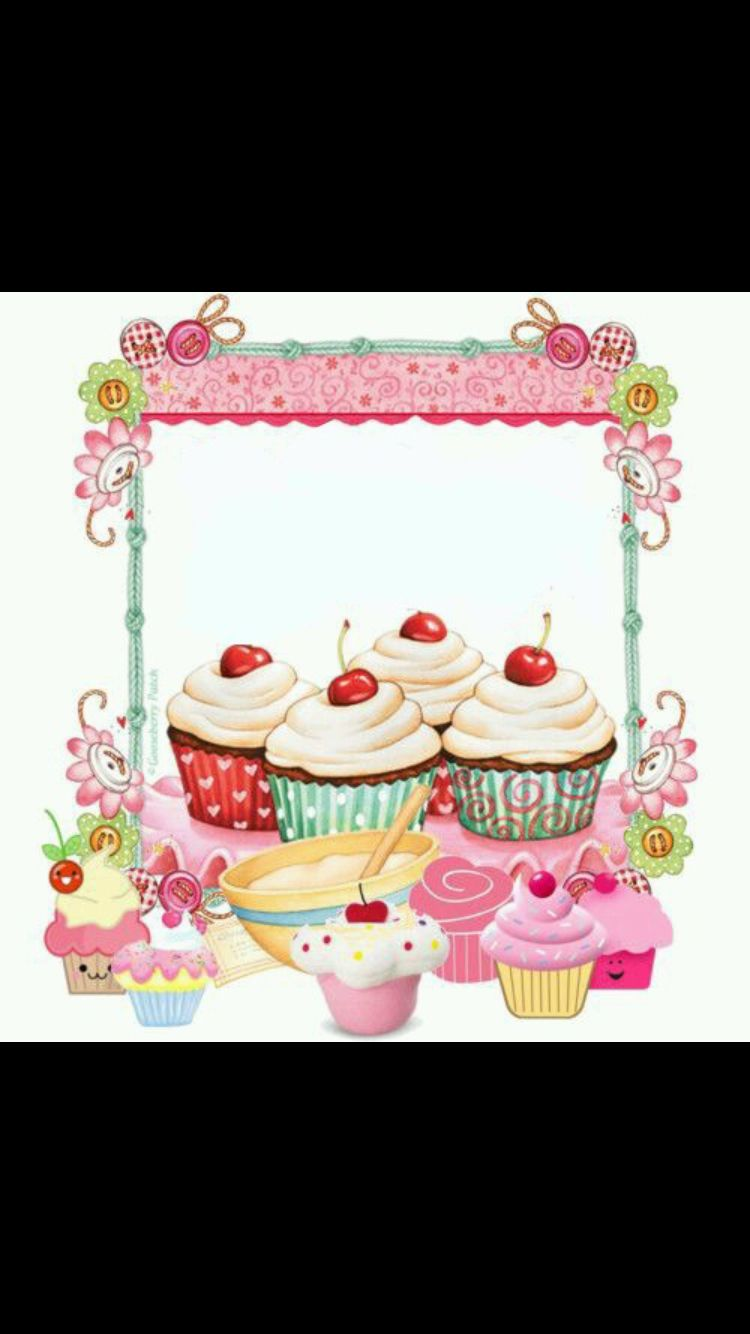 Etiket Logos De Pastelerias Dibujos De Cupcakes Invitaciones A Fiesta De Te