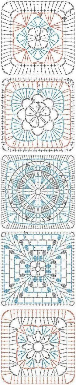 Букет голубых фиалок | Вязание | Pinterest | Crochet, Crochet ...