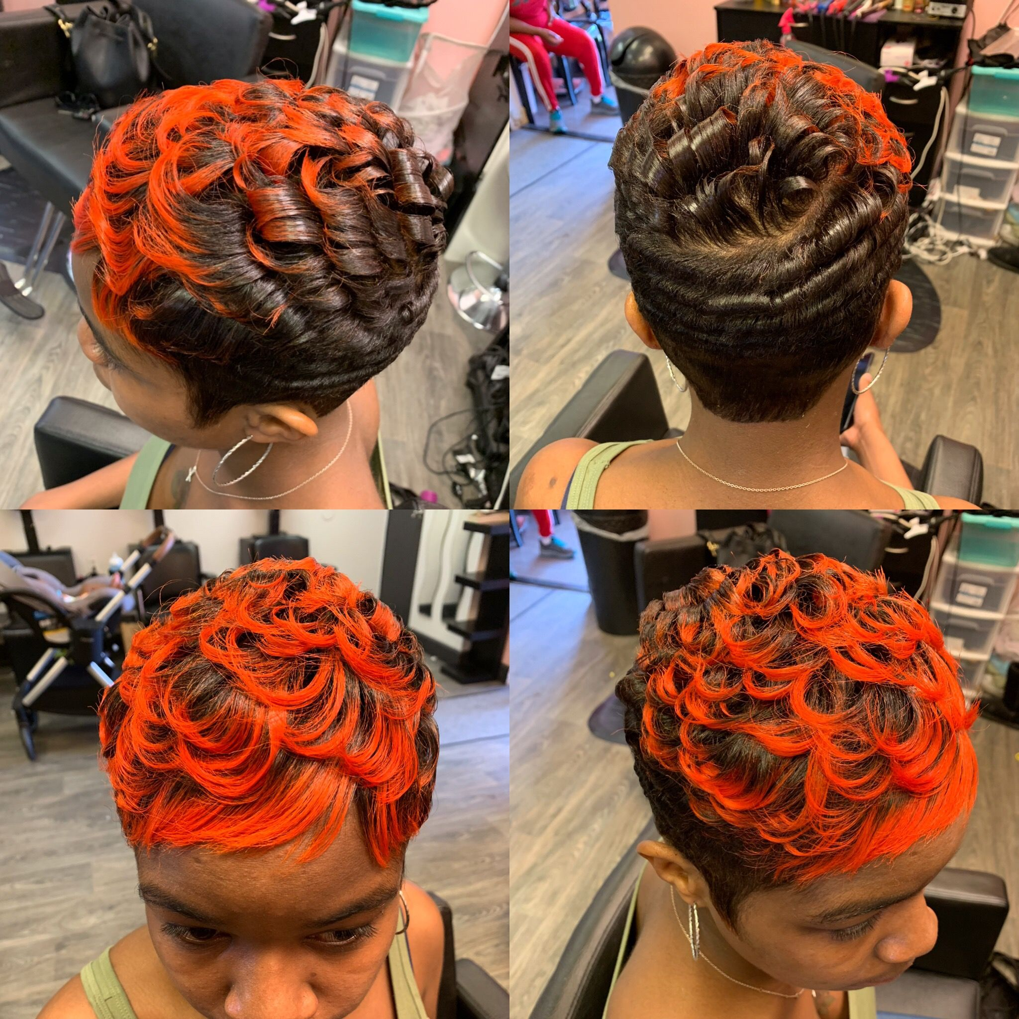 orangehair shorthairstyles Orange hair, Hair styles