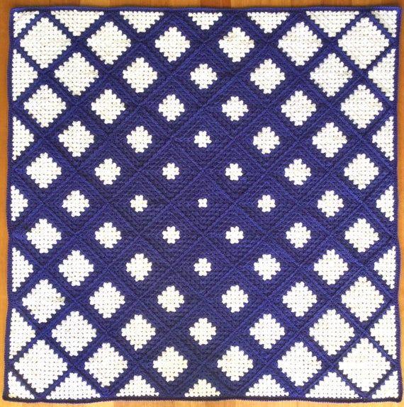 Stunning Granny Square Blanket with a modern twist, birthday, wedding, baby, gift