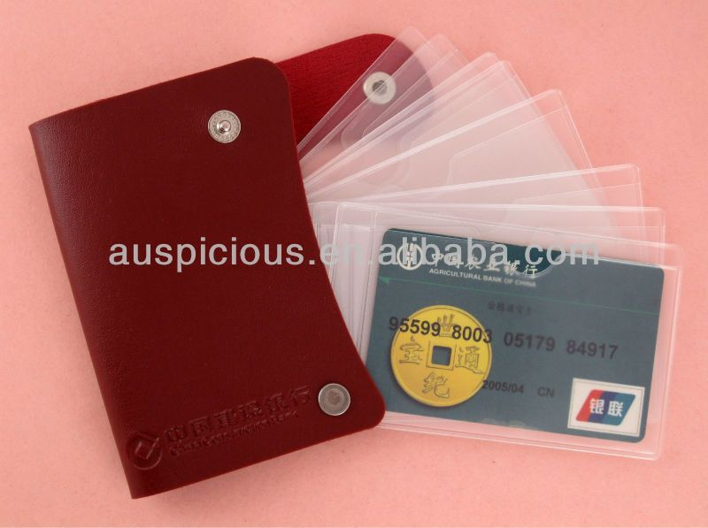 Plastic credit card sleeves with images credit card