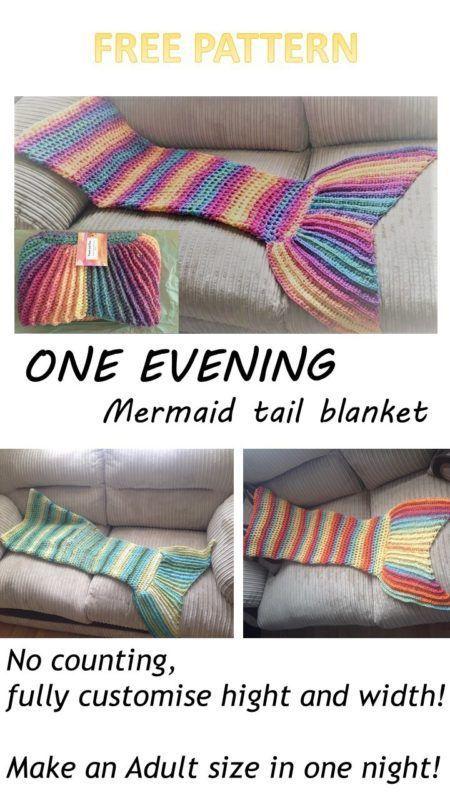 One Evening Crochet Mermaid Tail Blanket Pattern | Peanut And Plum