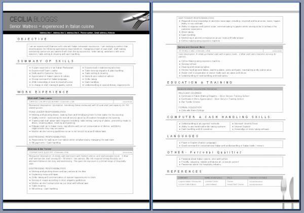 ResizedImage600422-Waitress-Resume-Examplejpg (600×422) resumes - waiter resume sample