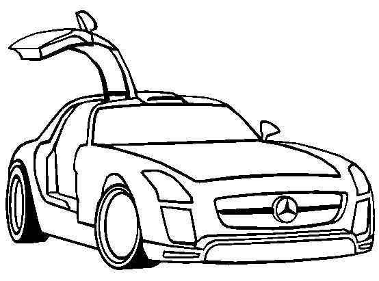 Car Coloring Pages : Mercedes sls amg gt coloring page mercedes car coloring pages