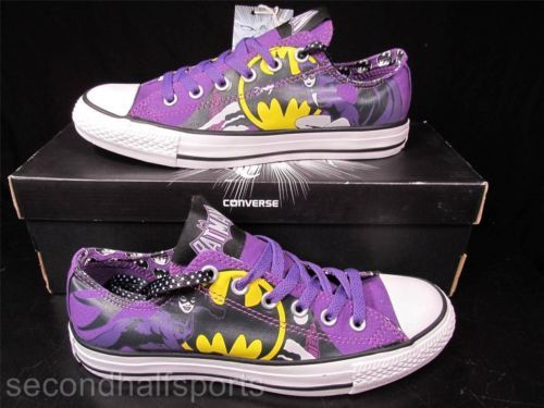 209449cc4a4a Converse BATMAN CATWOMAN BATGIRL Chuck Taylor All Star DC COMICS Sneaker  127220F in Clothing