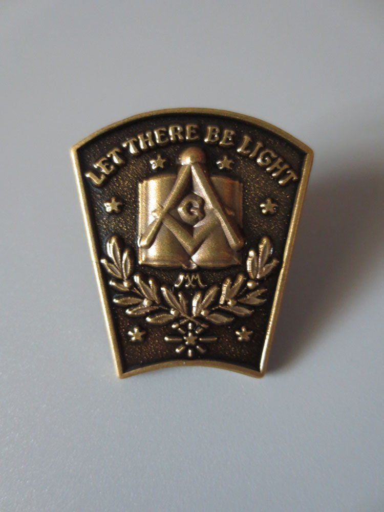 Antique Bronze Masonic Lapel