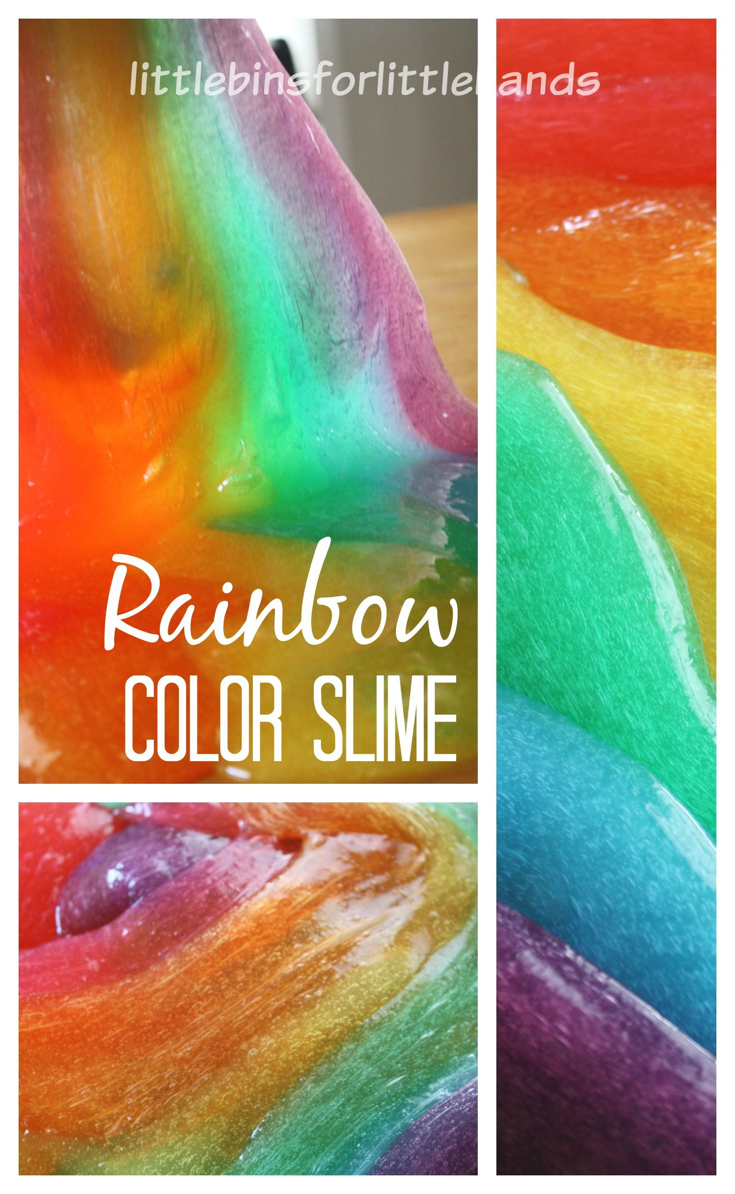 How To Make Slime Colors Of The Rainbow Rainbow Slime