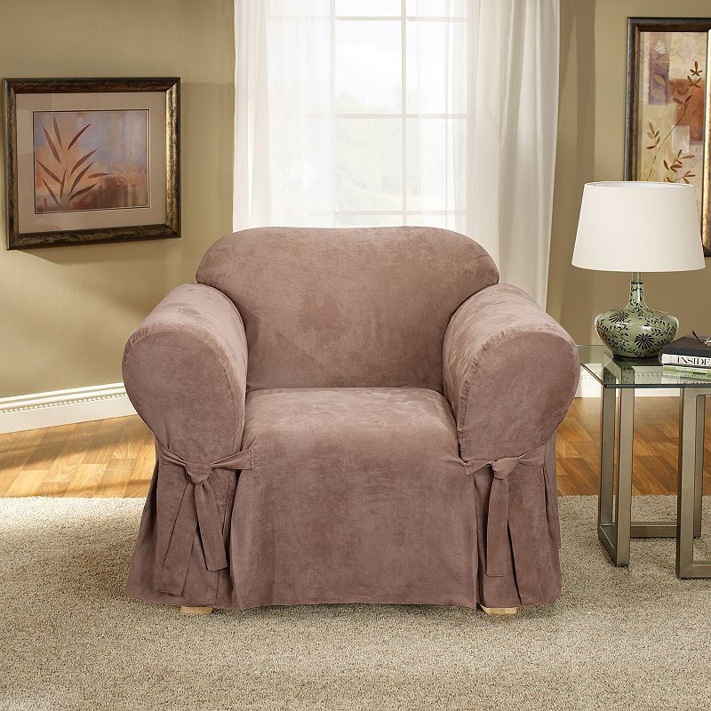 Sure Fit Soft Suede Chair Slipcover Slipcovers For Chairs Slipcovers Sure Fit Slipcovers