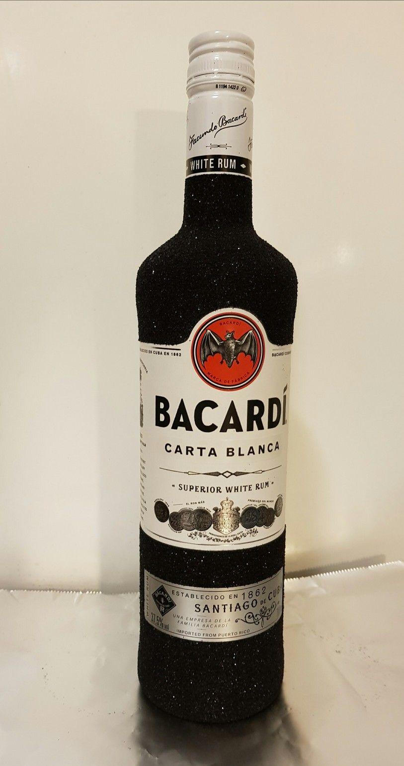 Bacardi glitter bottle black fles zwart Bacardi