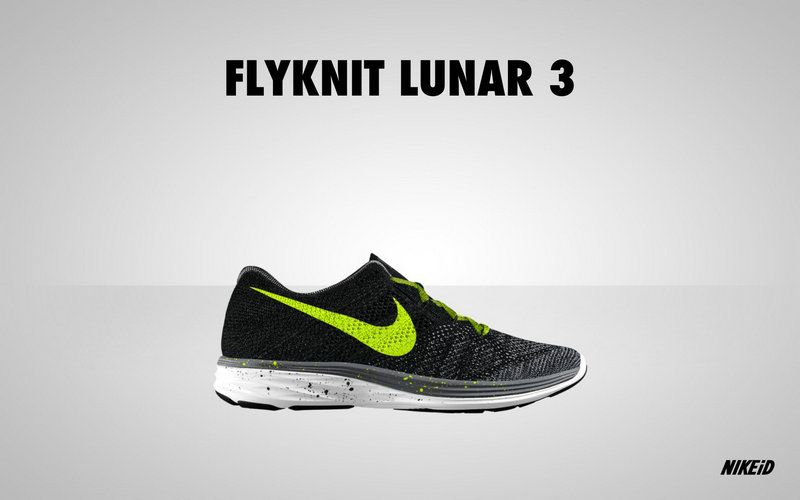best website 5f853 47131 Big Discount 2018 Nike Flyknit Lunar 3 Obsidian Black Volt
