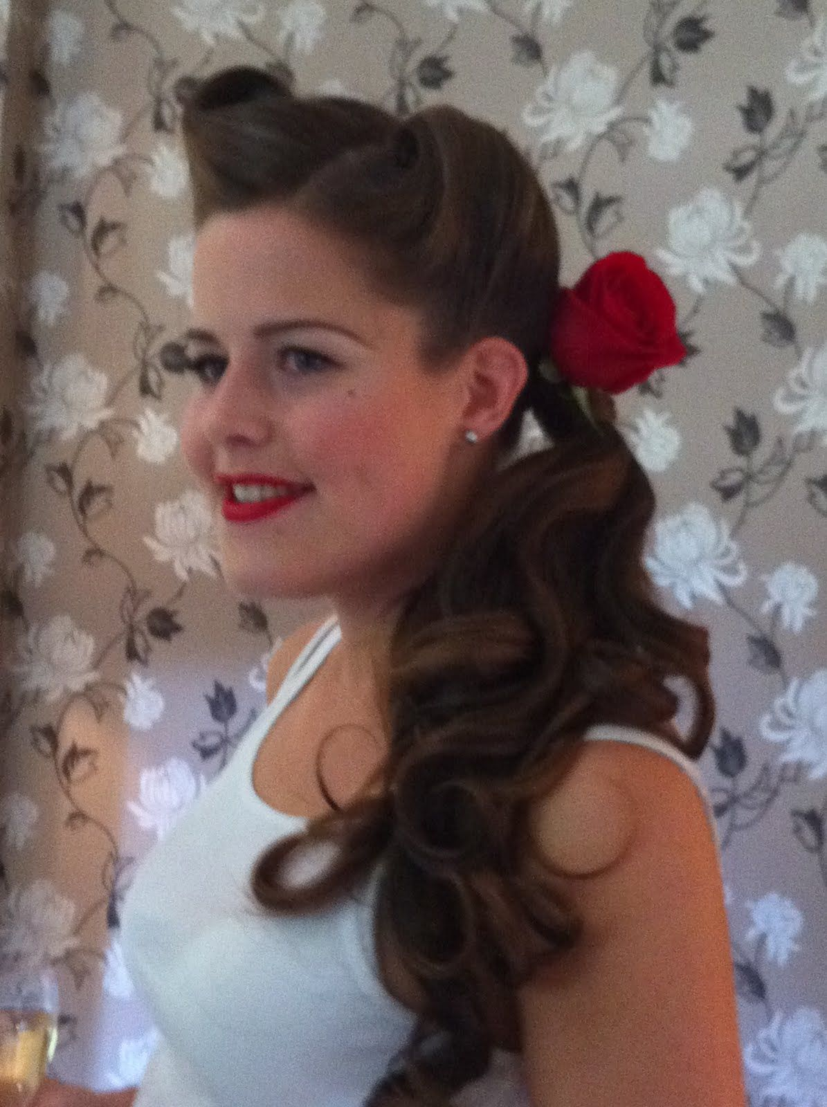 50's inspired wedding hair