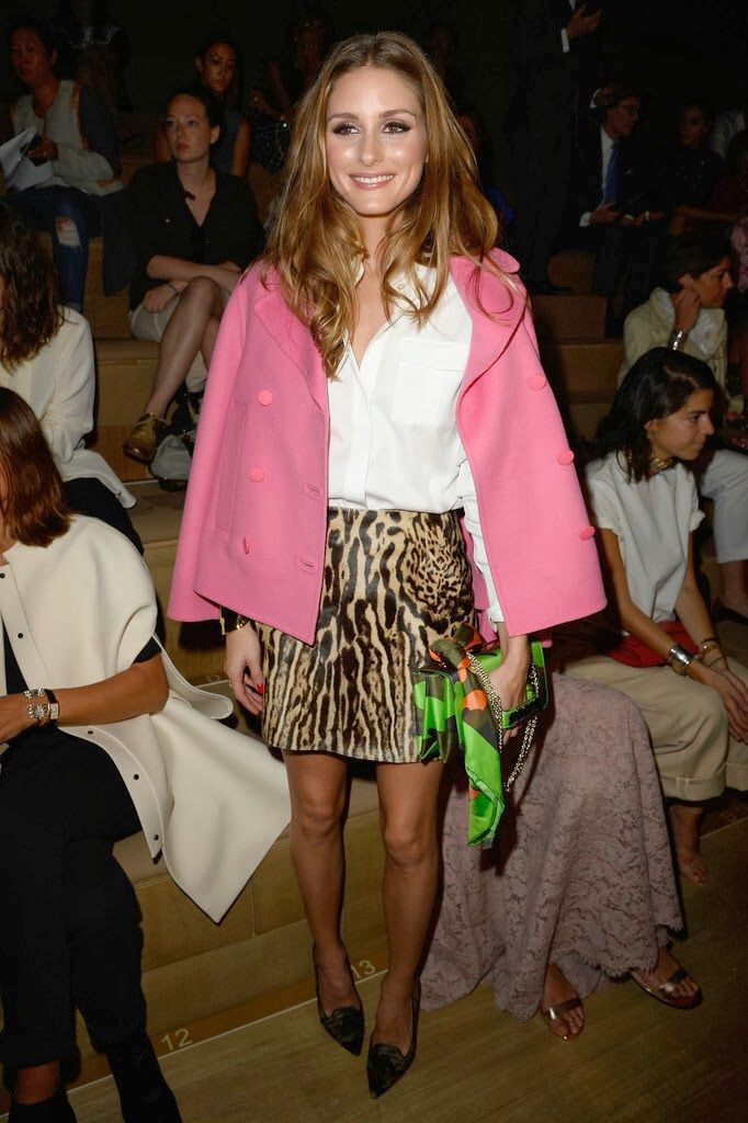 Olivia Palermo leopard pink fall style