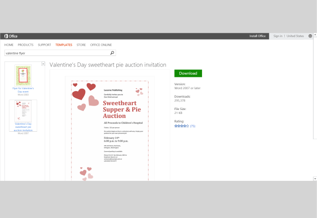 share the love ms office templates and printables for valentine s