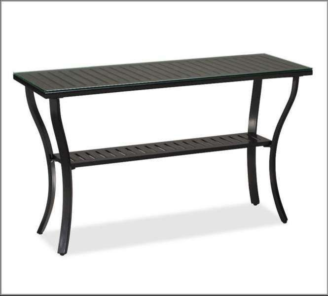 Patio Console Table Metal