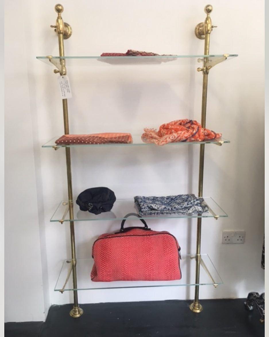 Brass bistro shelves made to order bistro patio furniture