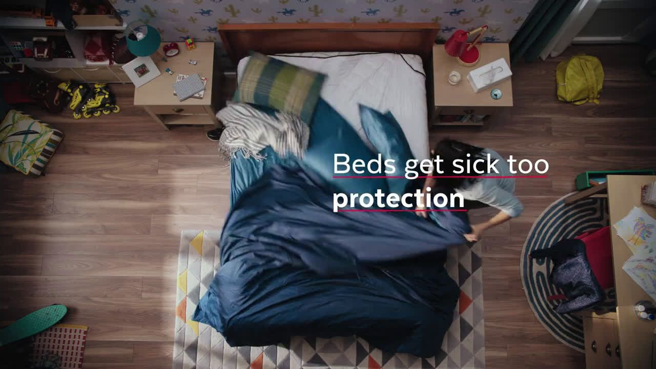 Lysol Laundry Sanitizer Beds Get Sick Too Ad Commercial