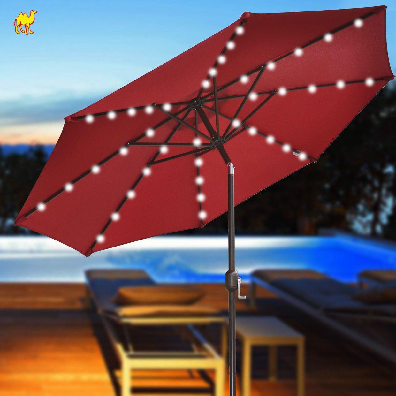 Patio Umbrella Lights Umbrellas With Solar June