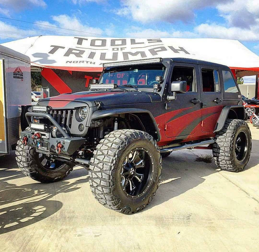 Cali Off Road Wheels On Instagram Badass Jeep With Our New Anarchy Wheels From 4x4works At The Snap On Tools Of Triumph Sho Badass Jeep Dream Cars Jeep Life