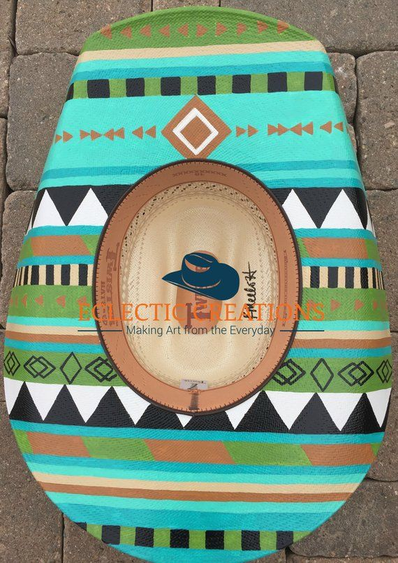 50c0c0969ef Custom Hand Painted Cowgirl Hats or Hand Painted Cowboy Hats (Made to Order)