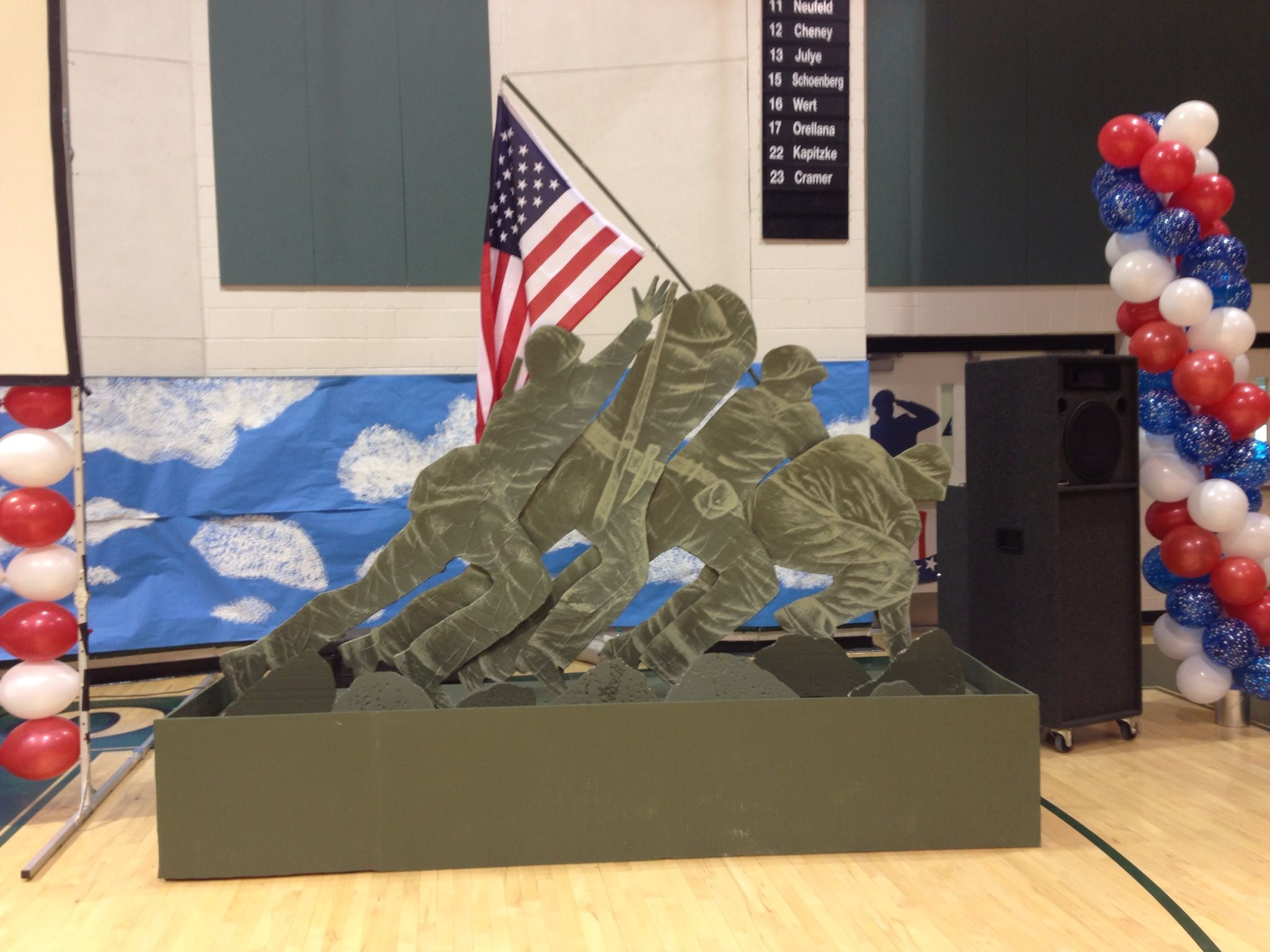 Veteran S Day Assembly Decorations Made With Foam Board And Paper Veteran S Day Veterans Day Classroom Crafts