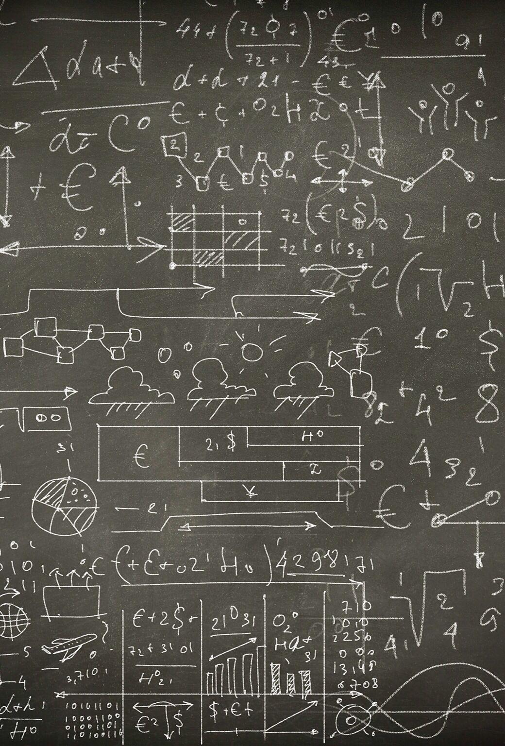 Math Equation Chalkboard IOS 7 Wallpaper