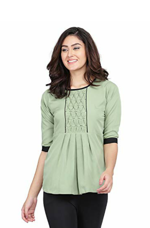 Women S Regular Fit Top For Just Rs 350 In 2020 Tops Workout Tops Women Regular fit / triangular back cut out shop now >>. pinterest