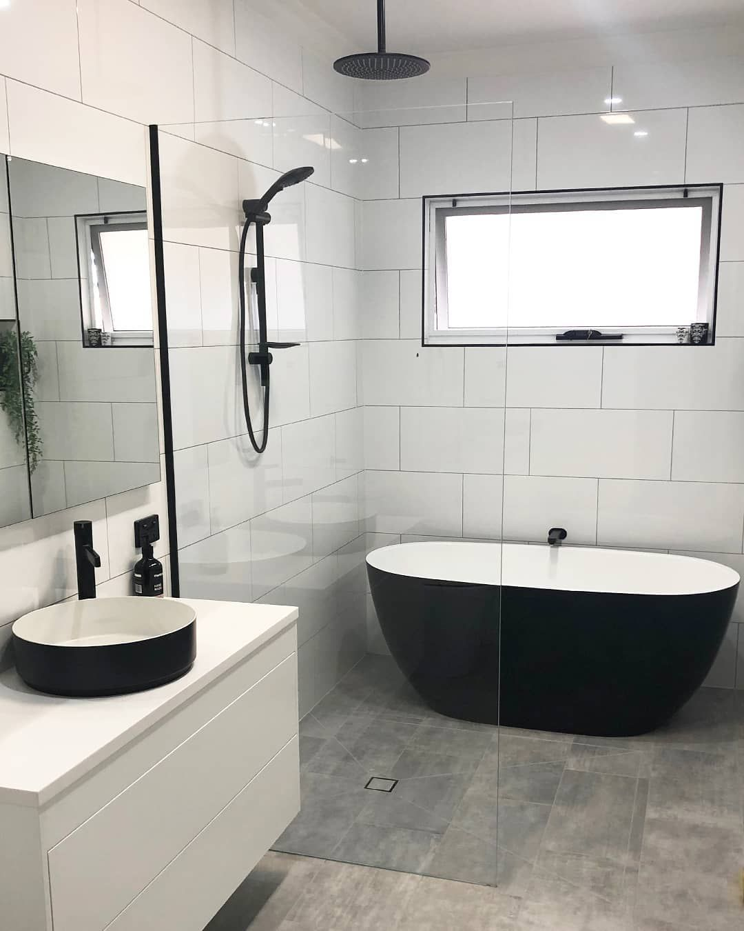 Reece Bathrooms On Instagram Black And White With A Unified Design This Bathroom Shows The Beauty In Simplicity The Striking Two Tone Kado Lux Petite Bath A