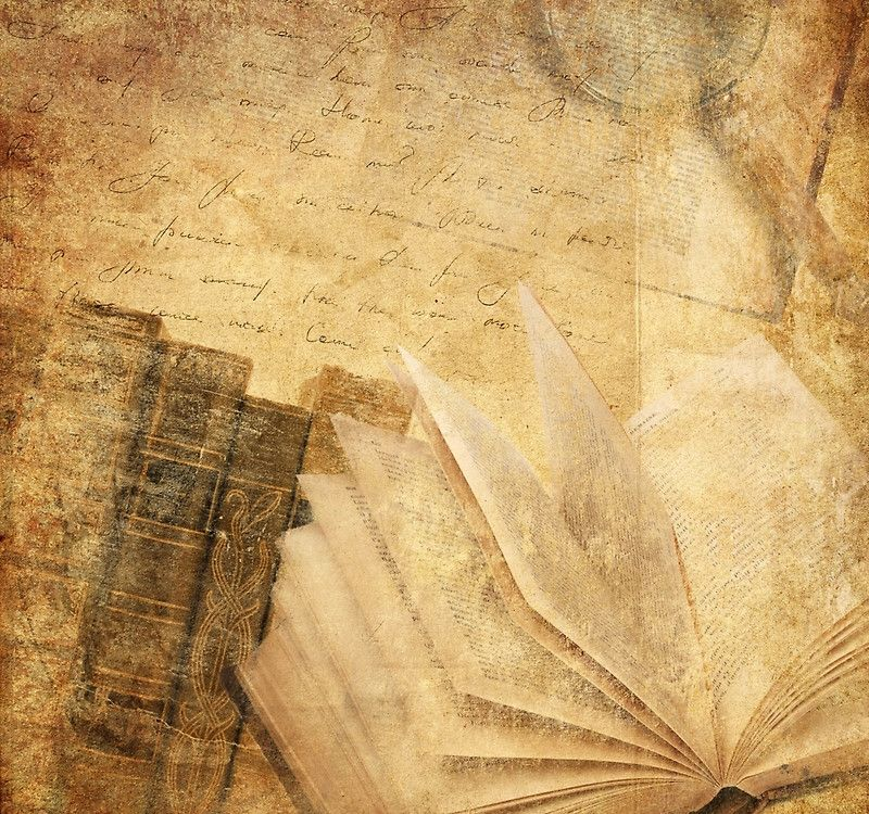 Rustic Collage Books Parchments Shabby Chic Elegant Vintage History Background Background Vintage Old Paper Background