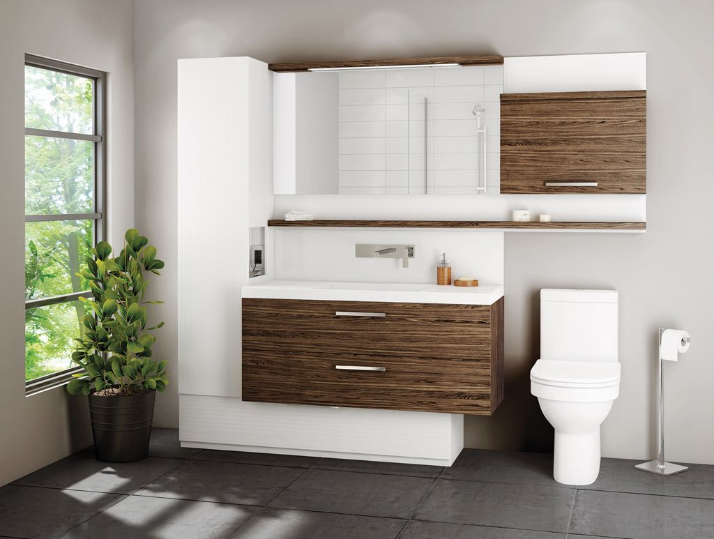 Collection duo s lection contemporain vanico maronyx sdb vanit salle de bain armoire - Lingerie salle de bain ...