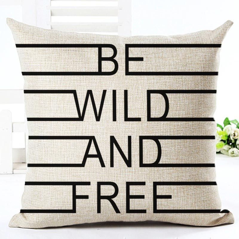 Black And White Style Decorative Cushions Simple Word Style Printed Awesome Types Of Decorative Pillow Shapes