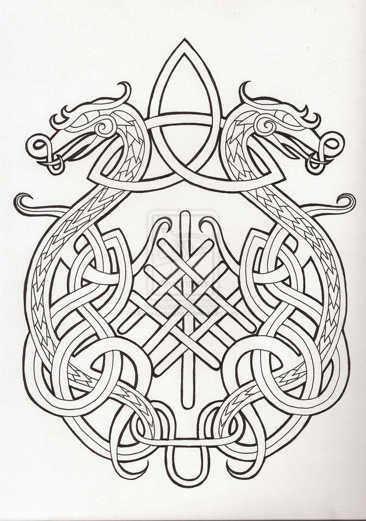 Norse Knots Google Search Norse Tattoo Celtic Designs Celtic Knot
