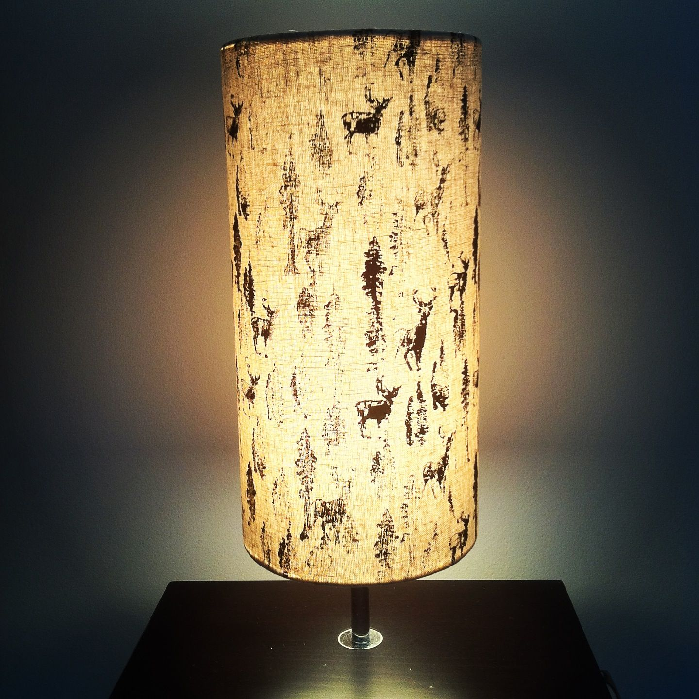 Forest print lamp shade