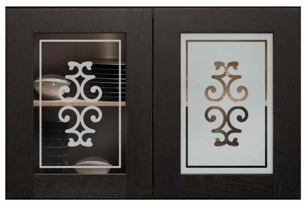 Kitchen Cabinet Etched Doors Residential Glass Etching Etched