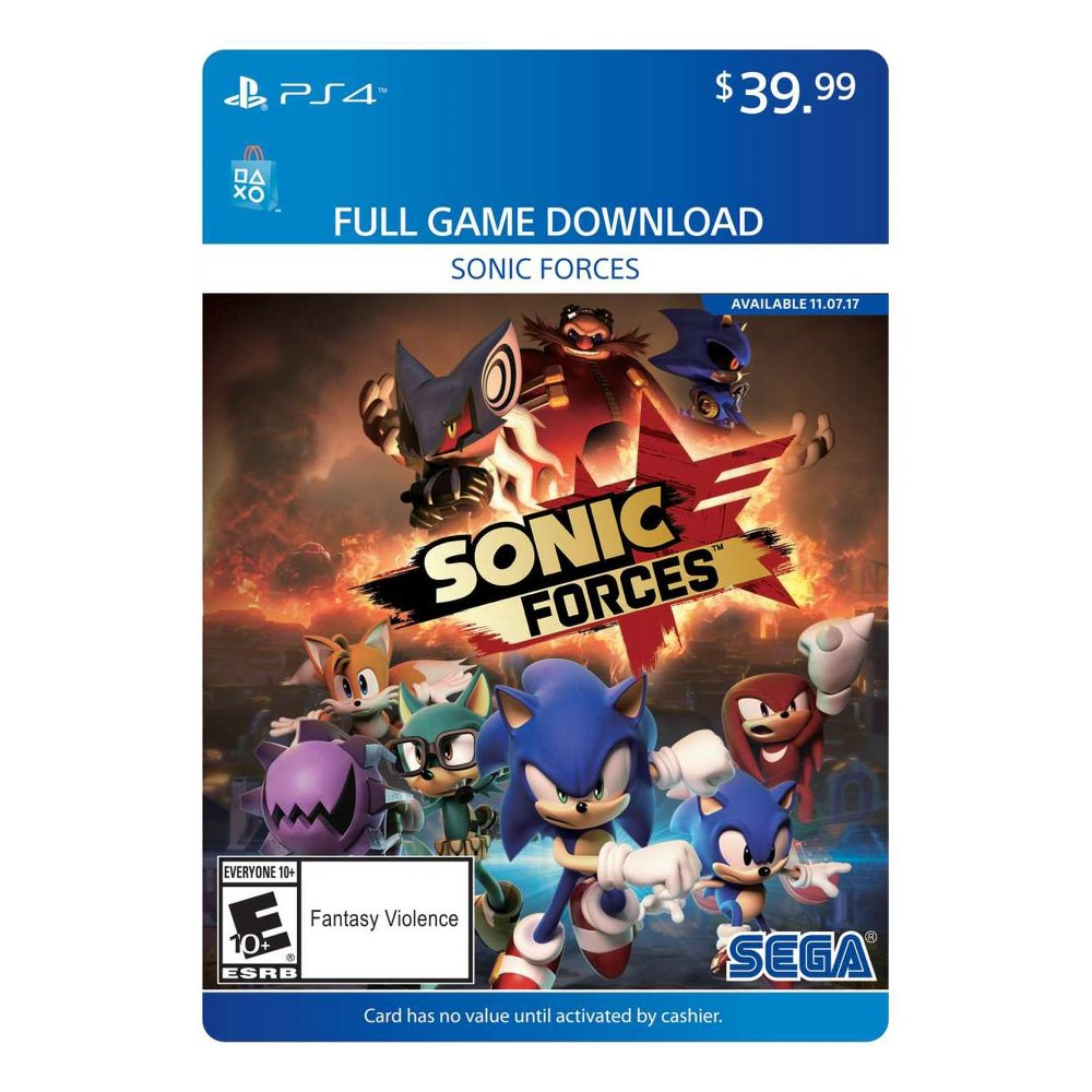 Sonic Forces PlayStation 4 (Digital) Xbox one, Sega
