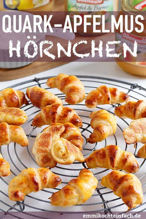 Photo of Quark applesauce croissants – fruity and delicious – easy to cook