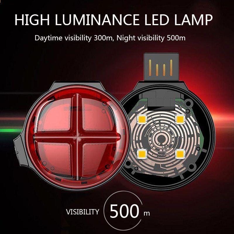 4f3514c9a USB Şarj Edilebilir Arka Lambası LED Koşu Bisiklet Arka Meşale Bisiklet  Arka Lambası Bisiklet MTB Emniyet Uyarı Işığı