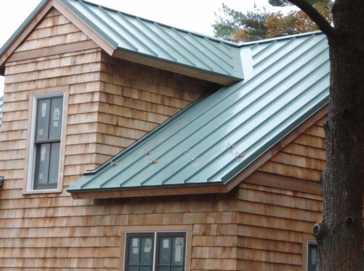 Green Standing Seam Metal Roof in 2020 Metal roof cost
