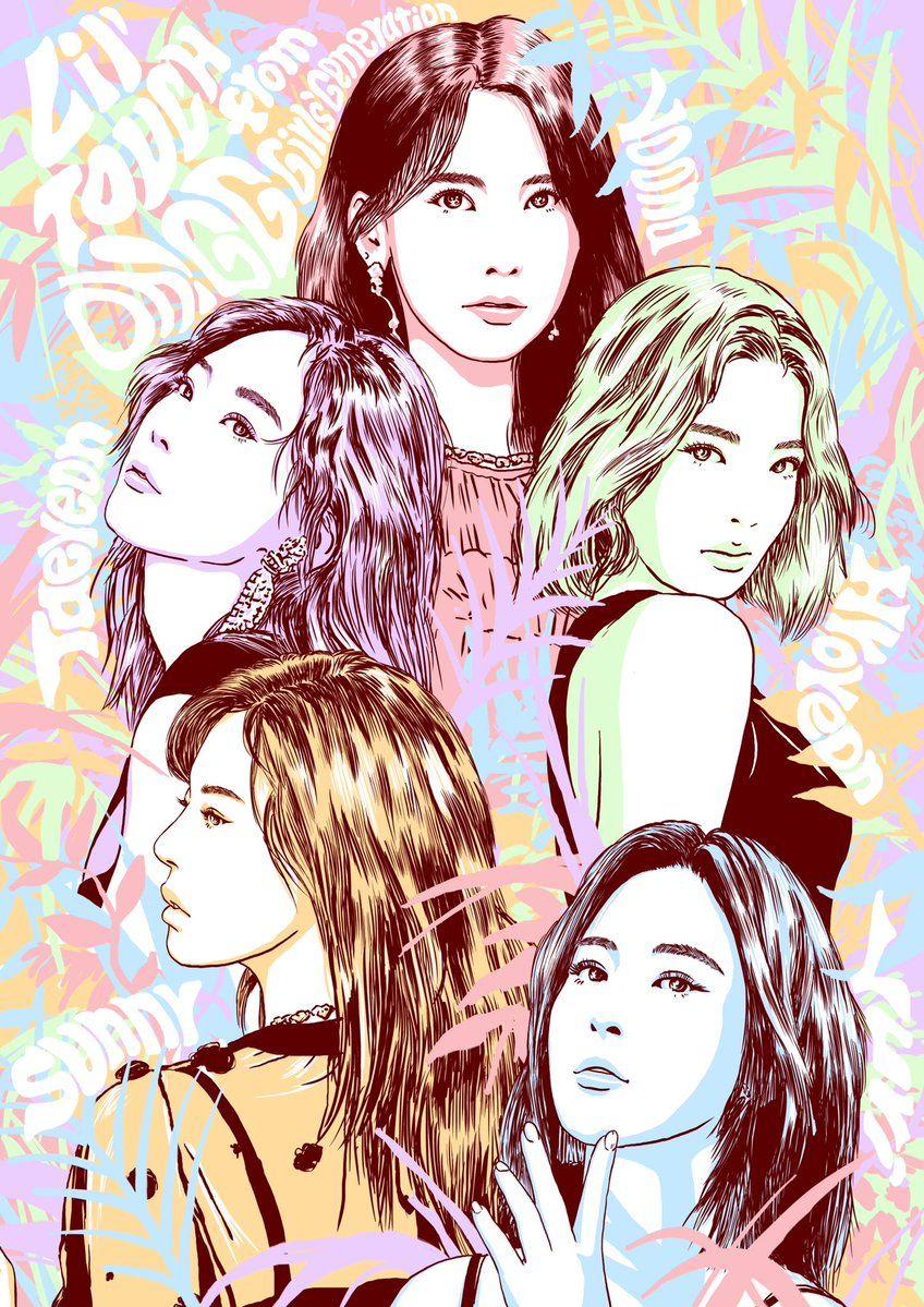 Pin By Kim Jojo On Snsd Fanart Girls Generation Fan Art Anime
