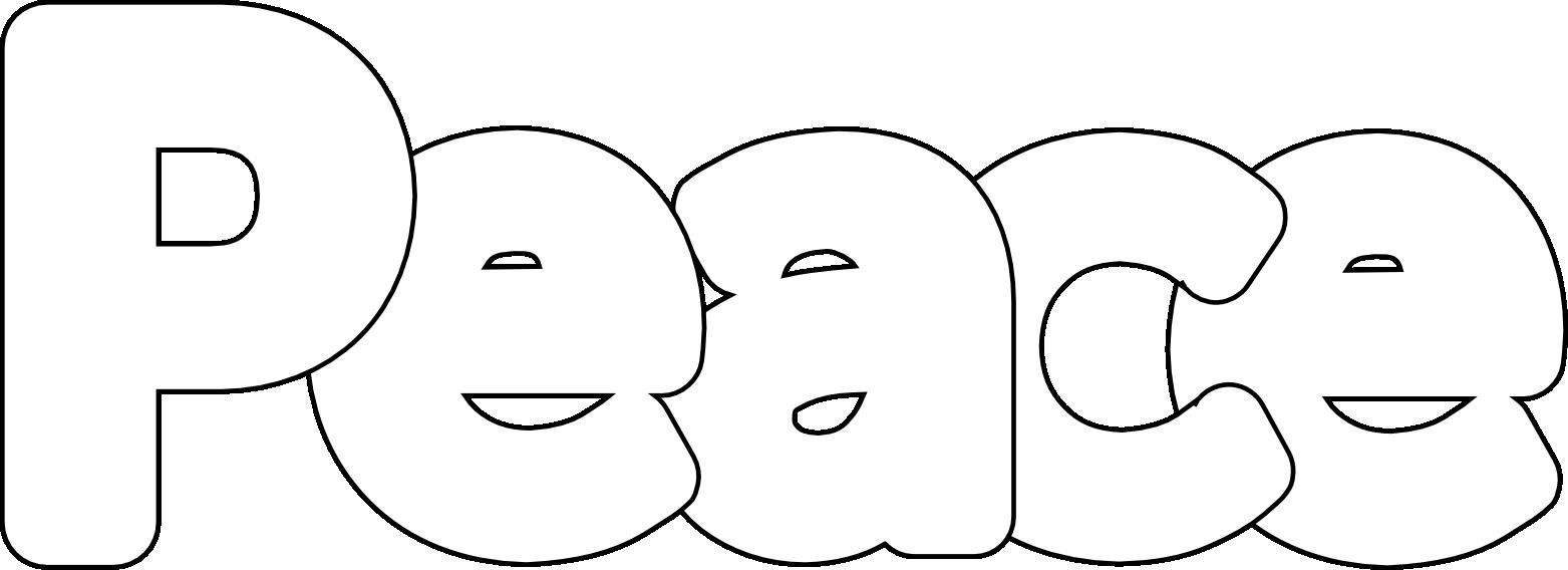 Coloringsco Peace Coloring Pages For