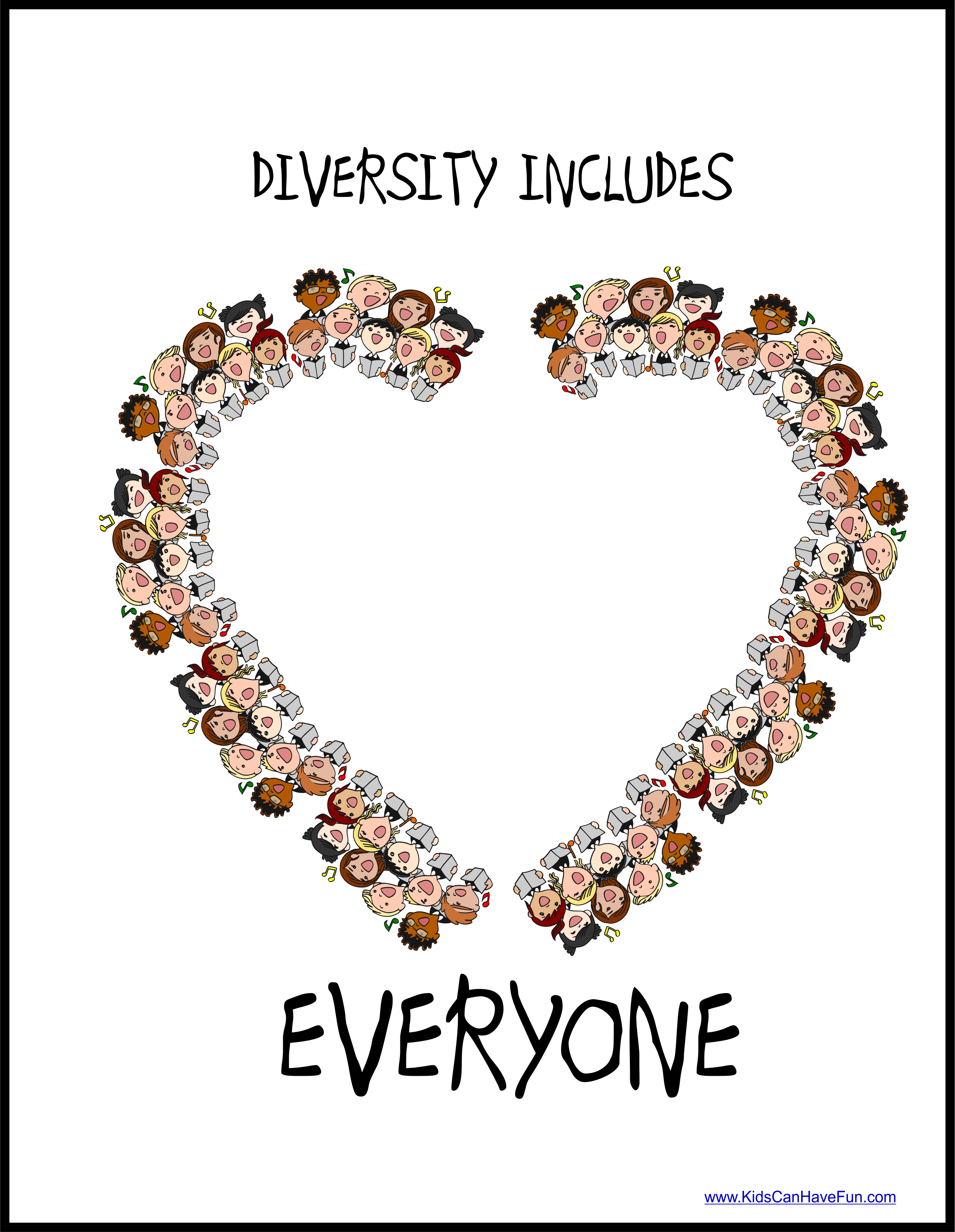 Diversity Includes Everyone Poster In