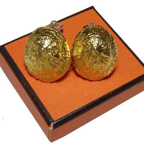 Hermes Metal Gold Earring