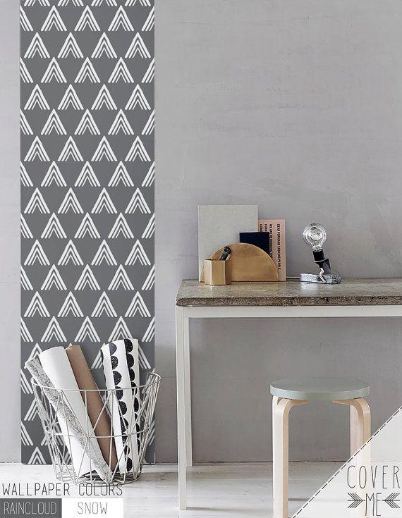 Peel And Stick Removable Self Adhesive Vinyl Wallpaper Pyramid Print Cm010 Geometric Pattern Wallpaper Removable Wallpaper Nursery Vinyl Wallpaper