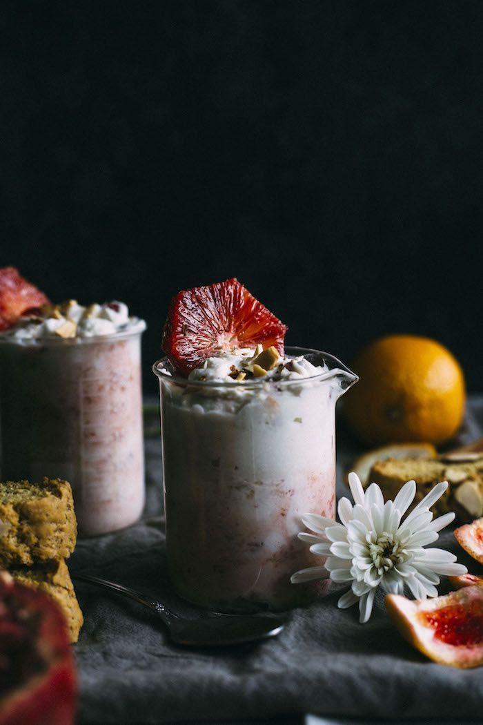 Blood Orange Fool | The easiest dessert ever! This fool is made with whipping cream, mascarpone and blood oranges and is completely drool-worthy | http://thealmondeater.com