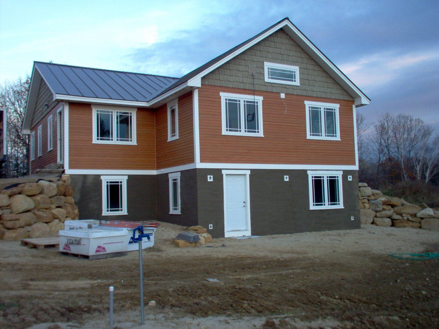 Walkout basement exterior design google search house for Walkout basement door options